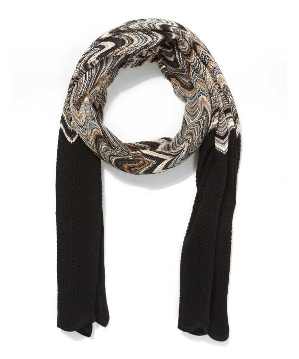 Curved Stripe Loose Knitted Scarf