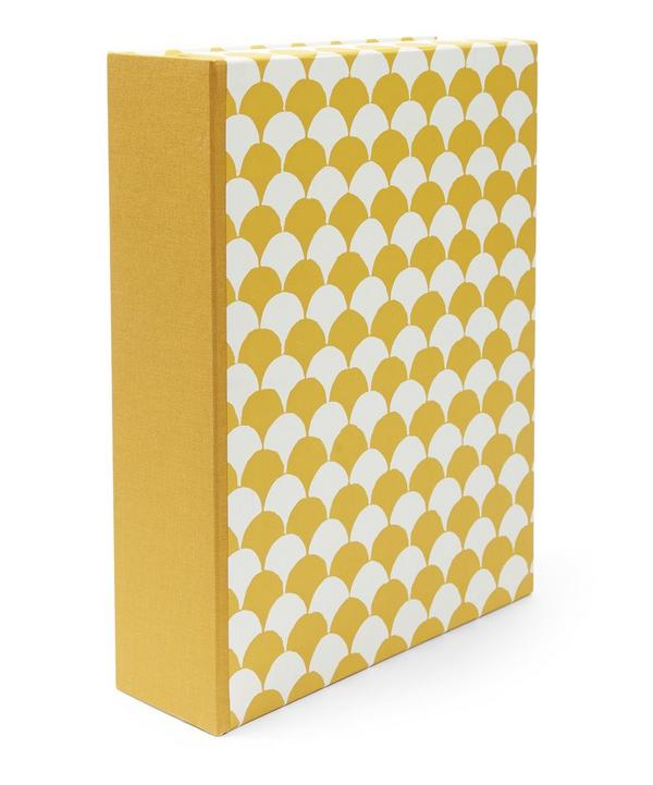 Clamshell Patterned A4 Box File