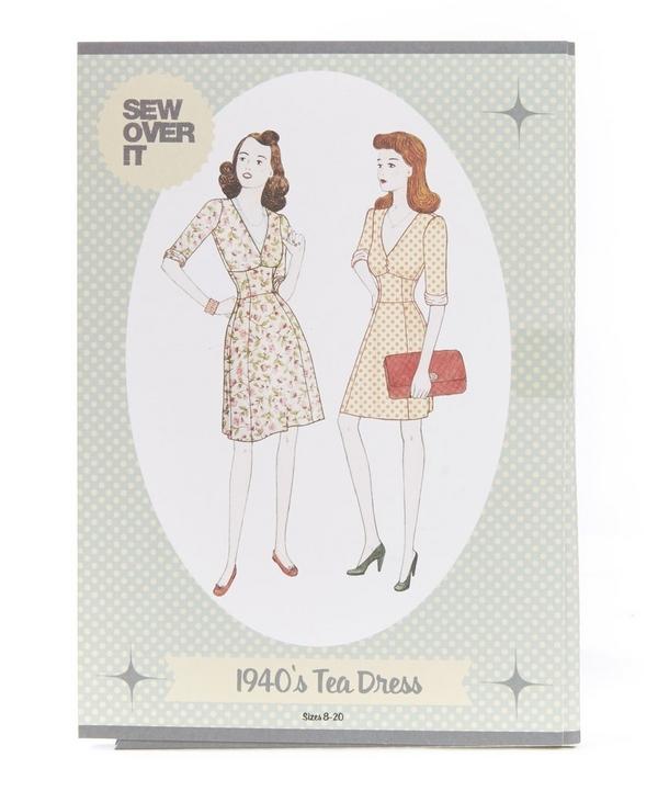 1940s Tea Dress Sewing Pattern
