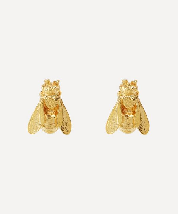 Gold-Plated Honey Bee Stud Earrings