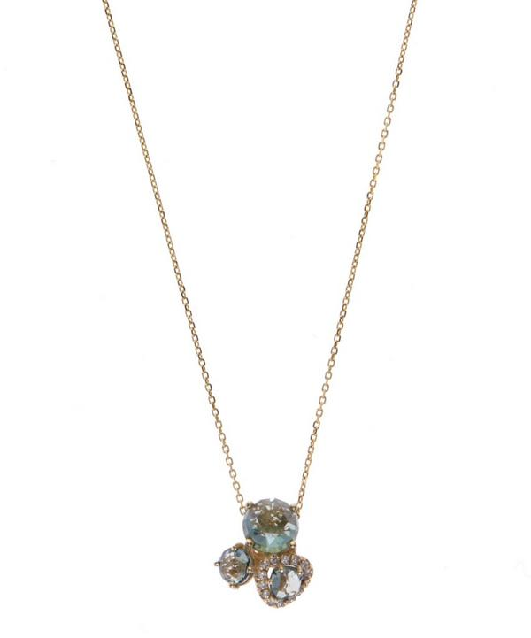 Gold Green Envy Topaz Necklace
