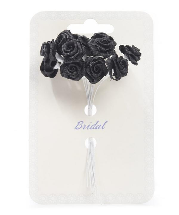 Bunch of 12 Decorative Ribbon Roses