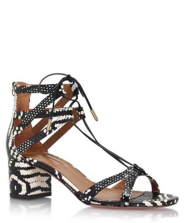 Snakeskin Beverly Hills 50 Sandals