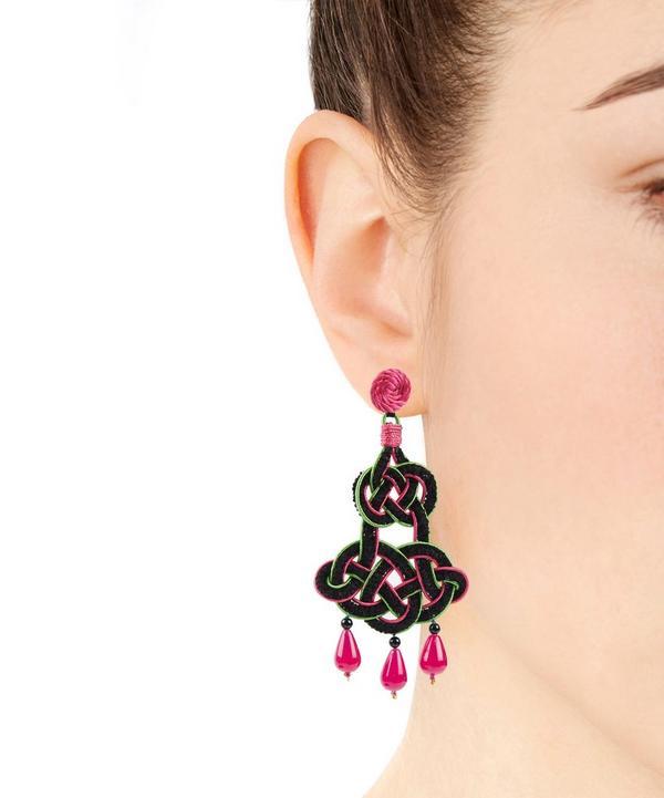 Chenille Looped Drop Earrings