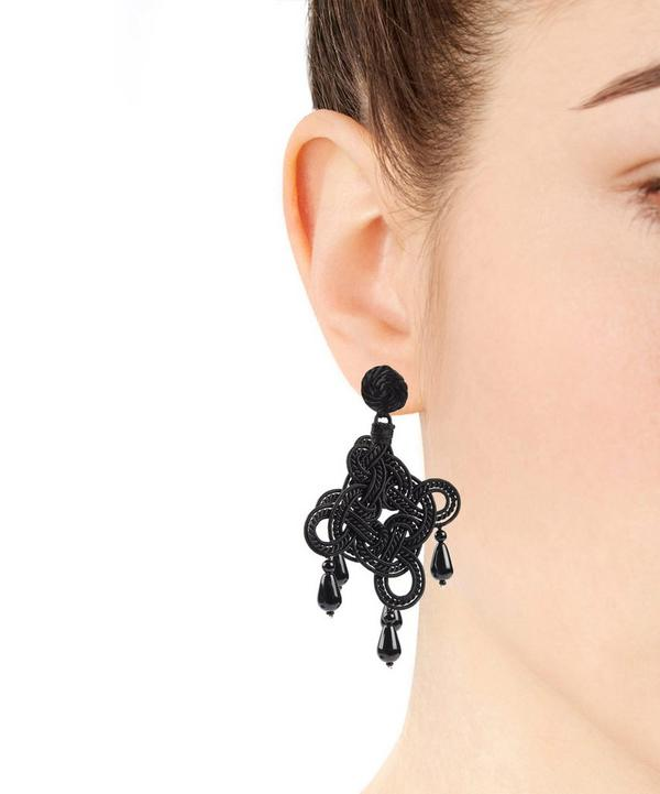 Chenille Looped Large Drop Earrings