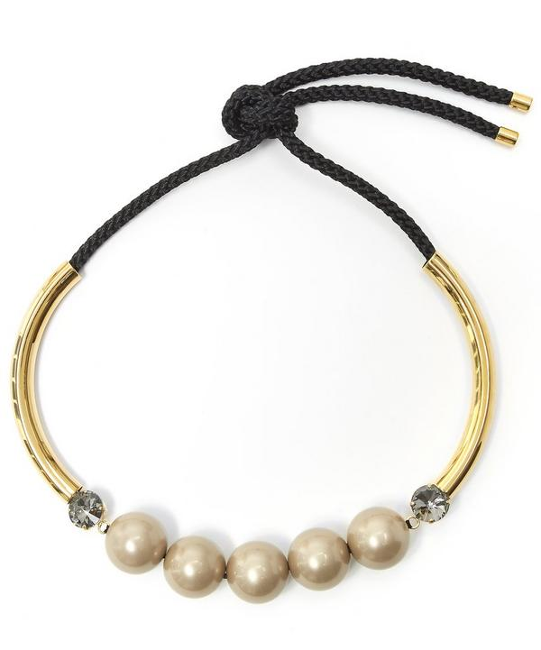 Bow Fastening Pearl Necklace