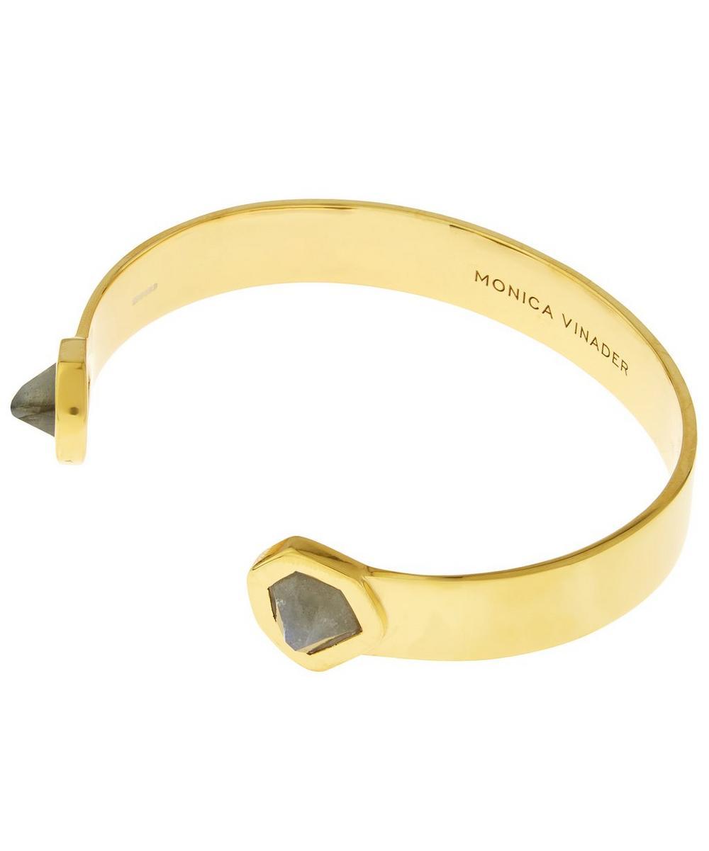 Gold-Plated Petra Labradorite Cuff