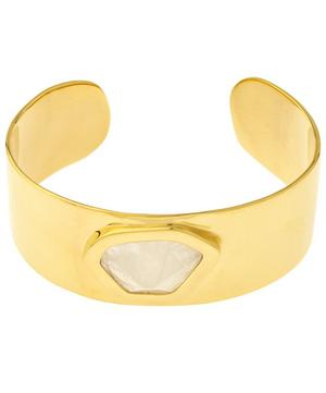 Gold-Plated Petra Hero Moonstone Cuff