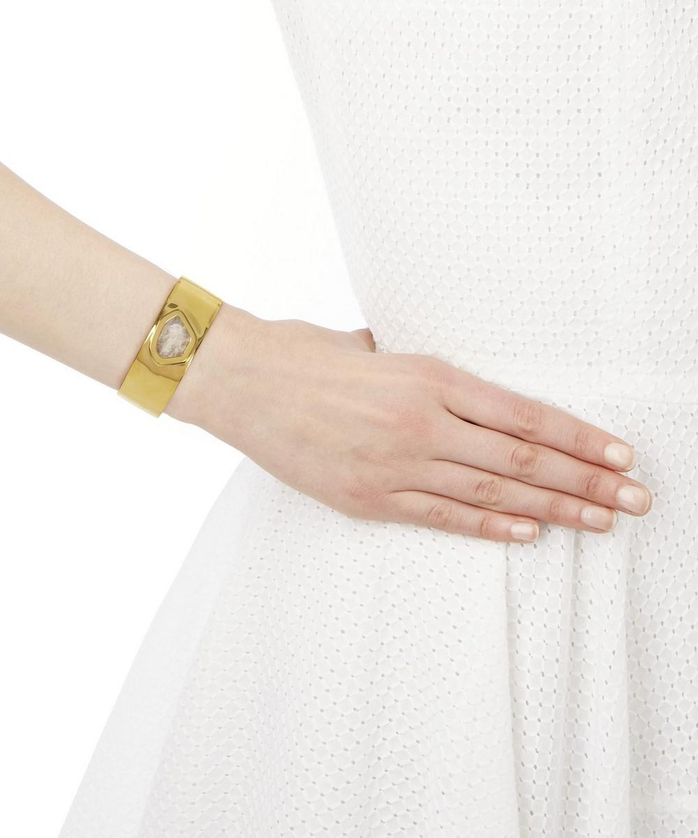 Gold-Plated Petra Hero Moonstone Cuff