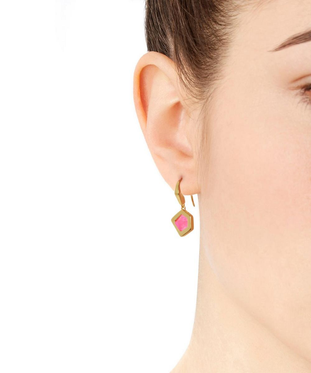 Gold-Plated Petra Pink Quartz Earrings