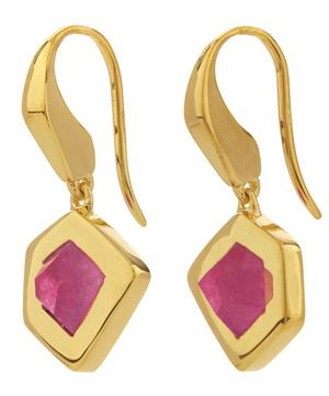 Gold-Plated Petra Pink Quartz Earrings