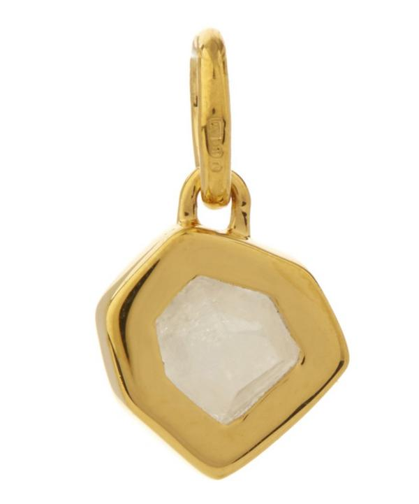 Small Gold-Plated Petra Moonstone Pendant Necklace
