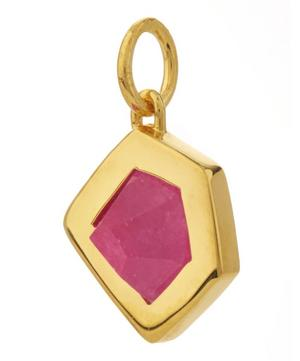 Gold-Plated Petra Pink Quartz Pendant Necklace