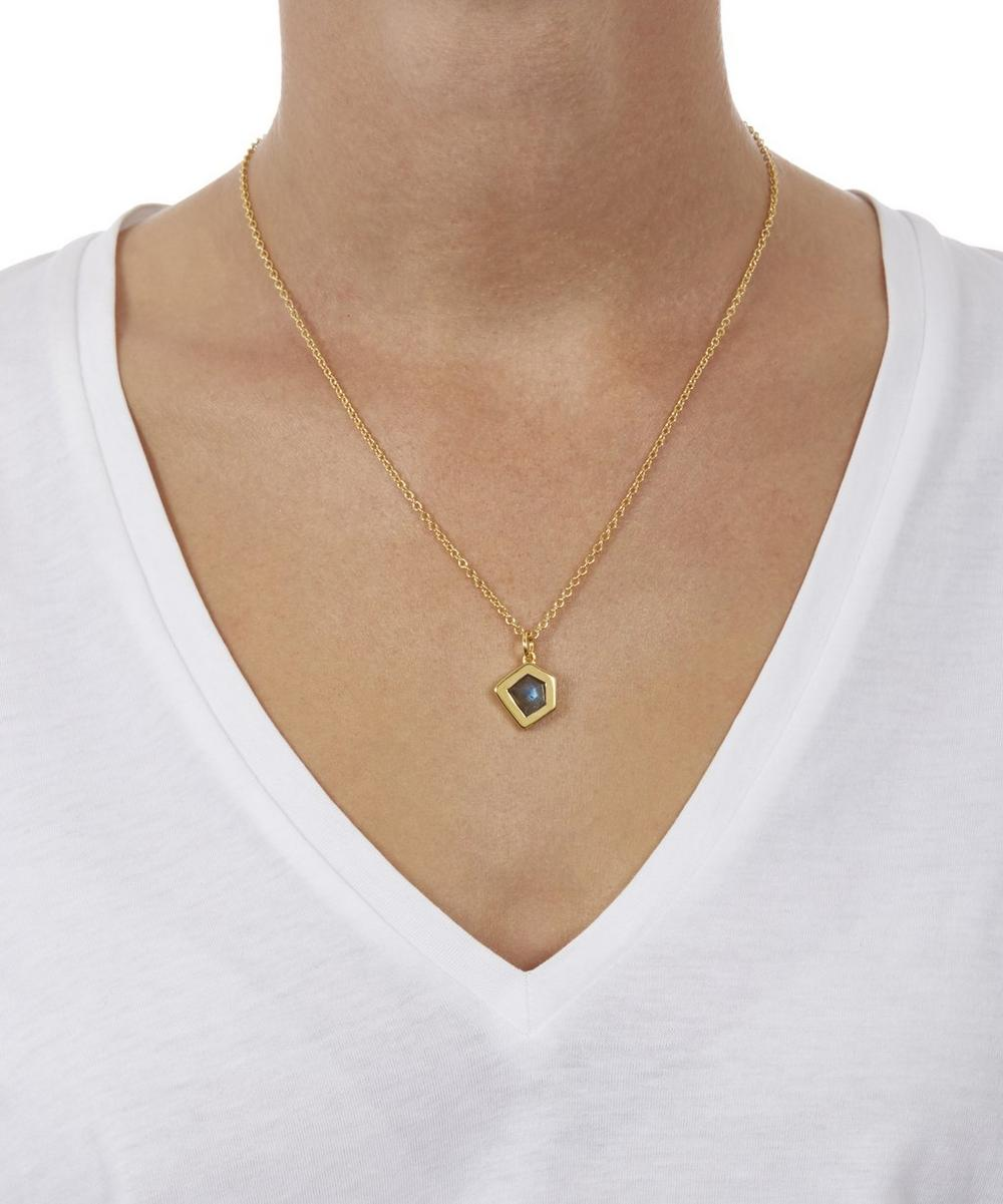 Gold-Plated Petra Labradorite Pendant Necklace