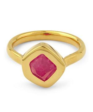 Gold-Plated Petra Pink Quartz Stacking Rings