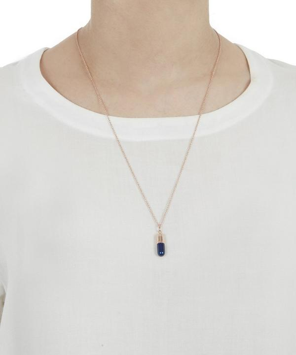 Small Rose Gold-Plated Midnight Pill Necklace