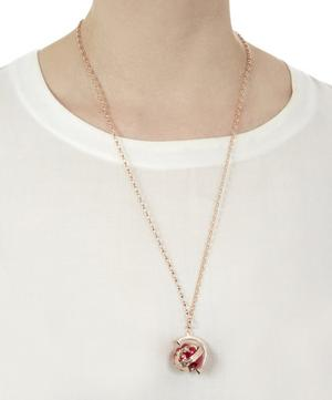 Medium Rose Gold Burgundy Globe Necklace