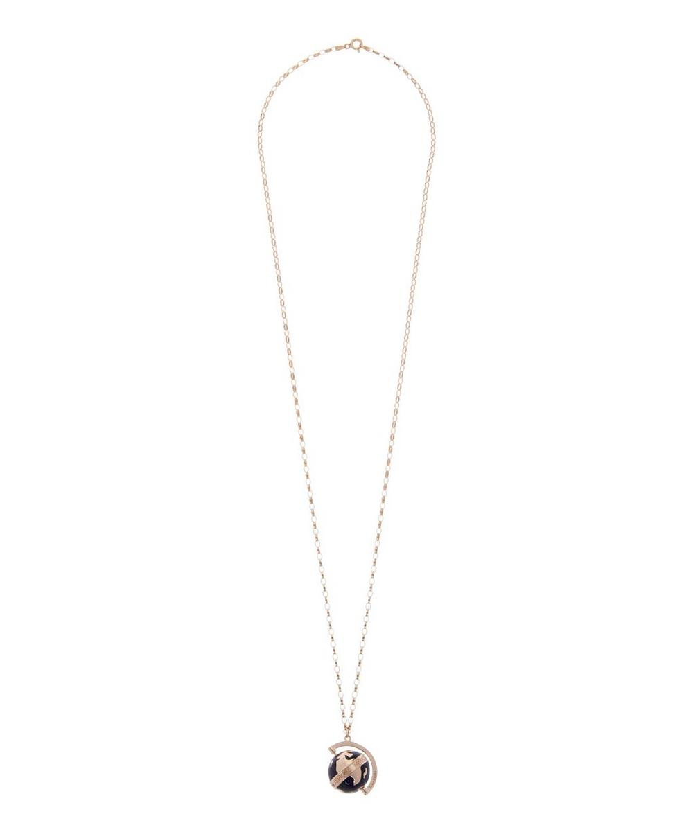 Rose Gold-Plated Midnight Globe Necklace