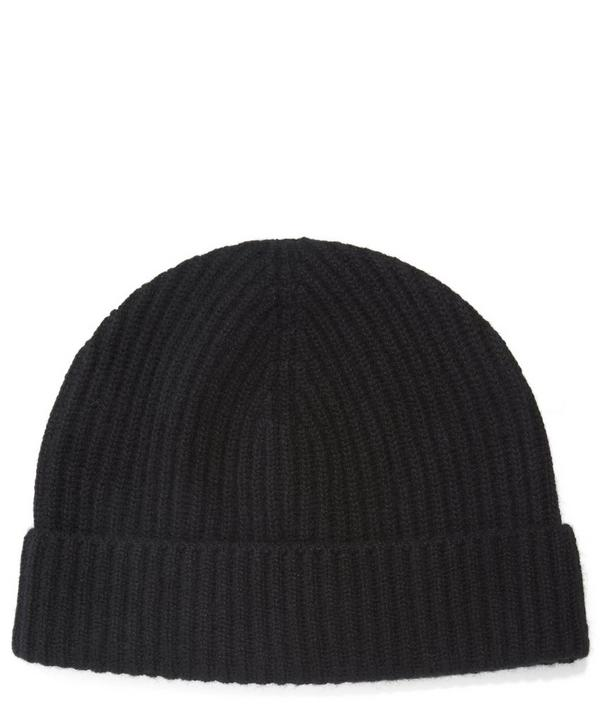 Cashmere Knitted Ribbed Beanie Hat