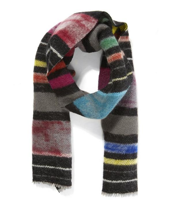Sombrero Striped Knitted Scarf