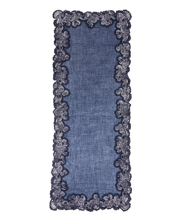 Ludmilla Lace Edge Detailed Scarf