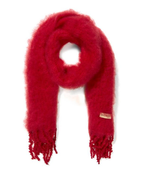 Kid Mohair Knitted Scarf