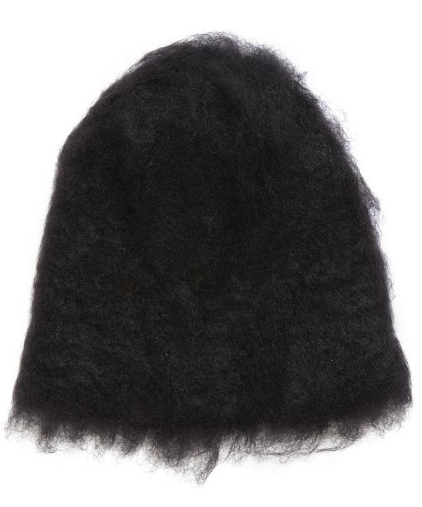 Kid Mohair Knitted Beanie Hat