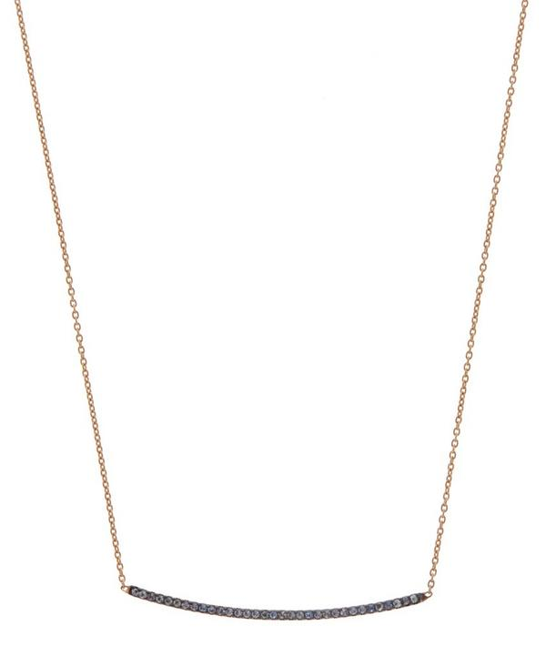 Rose Gold Sapphire Medium Bar Necklace