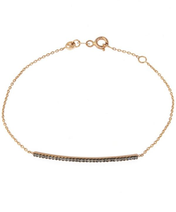 Rose Gold Lumiere Diamond Bar Bracelet with Chain