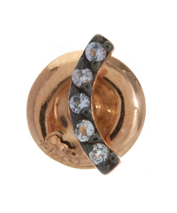 Rose Gold Arc Stud Earring