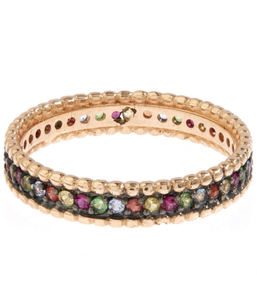 Rose Gold Multicolour Eternity Ring