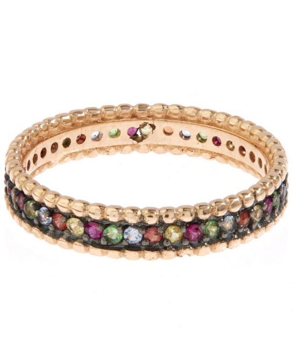 Rose Gold Multicolour Eternity Ring