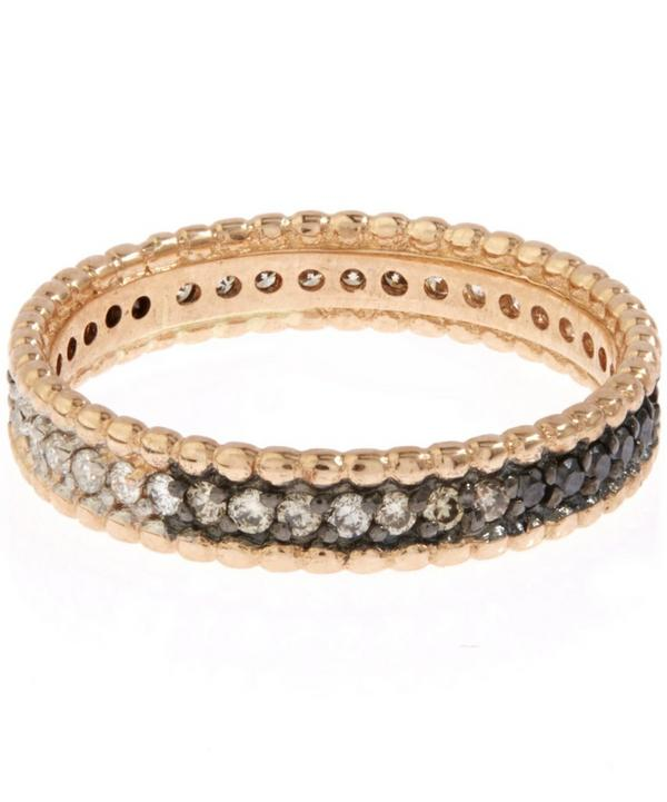 Rose Gold Tricolour Diamond Eternity Ring