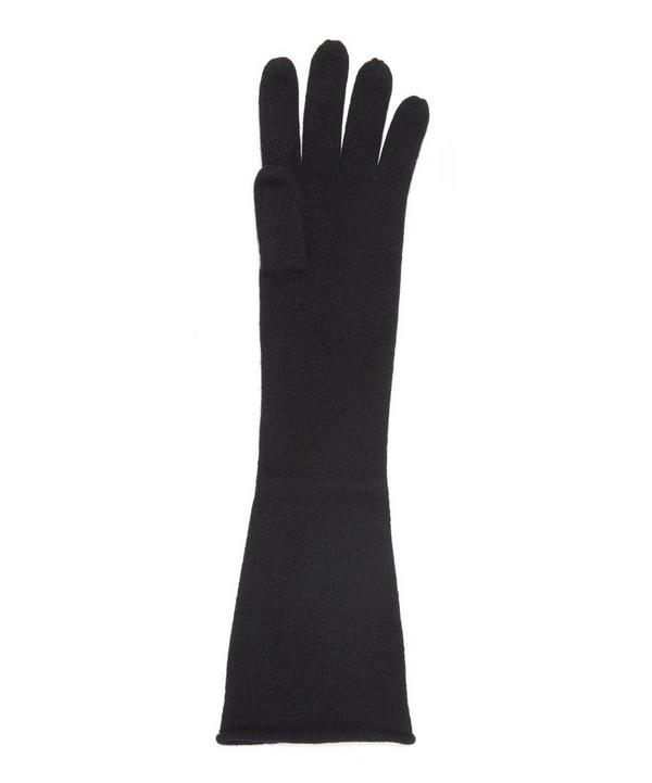 Long Cashmere Knitted Gloves