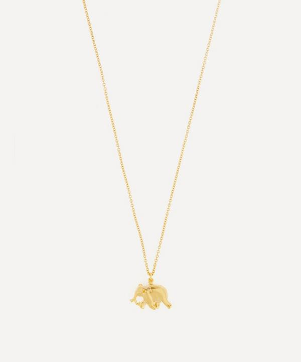 Gold-Plated Indian Elephant Pendant Necklace