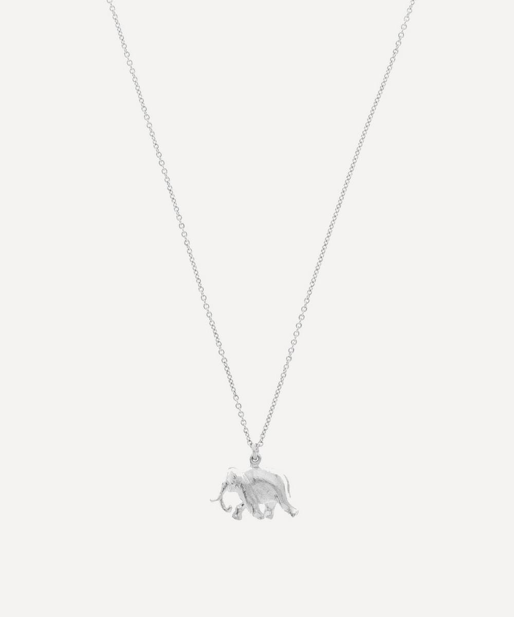 Sterling Silver Indian Elephant Pendant Necklace