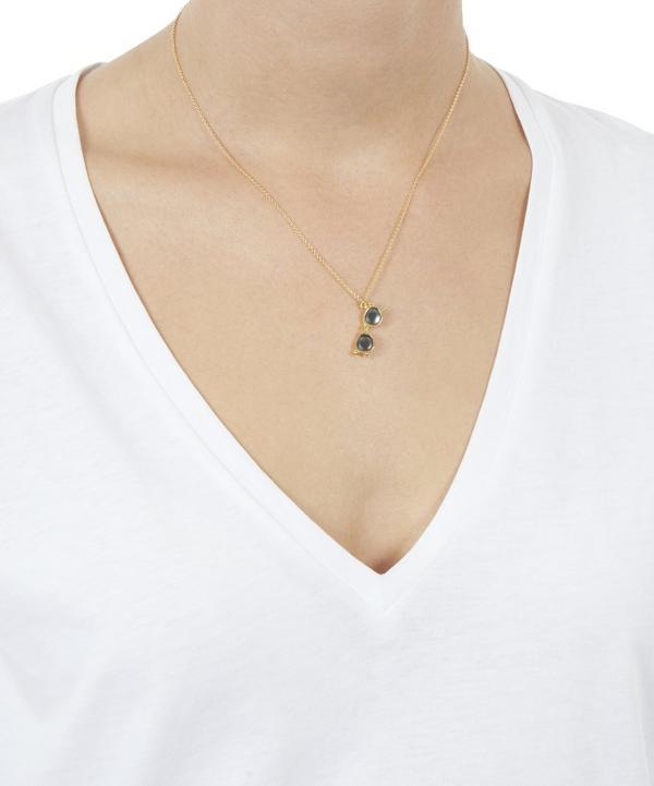 Gold-Plated Lunettes De Soleil Necklace