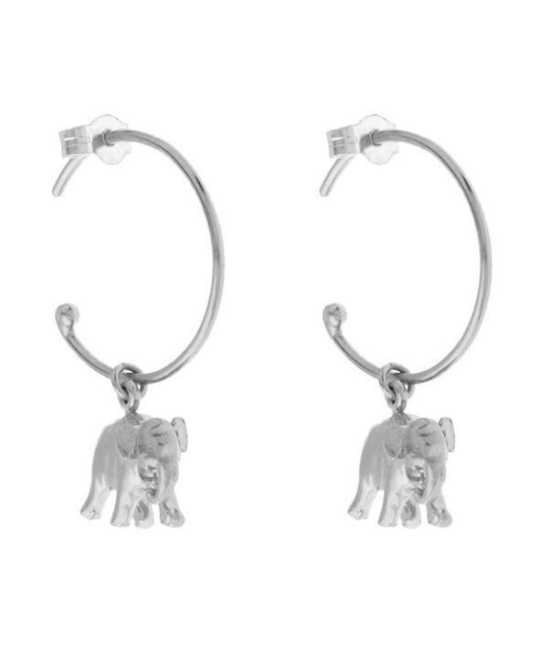 Sterling Silver Indian Elephant Mini Hoop Earrings