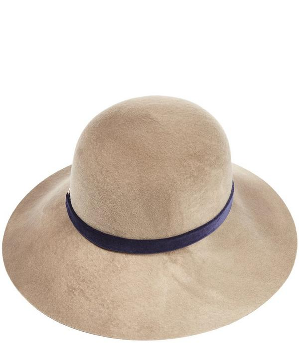 Blake Marble Brushed Wool Velvet Trim Fedora