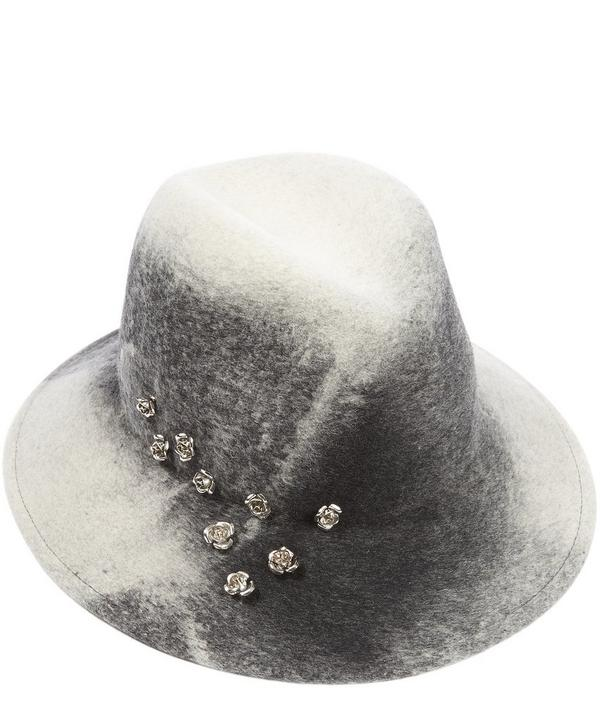 Bianca Flower Detail Marble Trilby Hat
