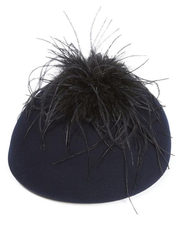 Coco Ostrich Feather Detail Beret