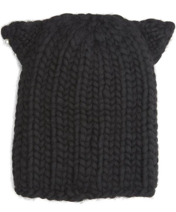 Felix Pearl Detail Cat Beanie Hat