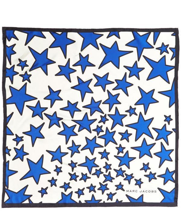 Stars Printed Silk Twill Scarf