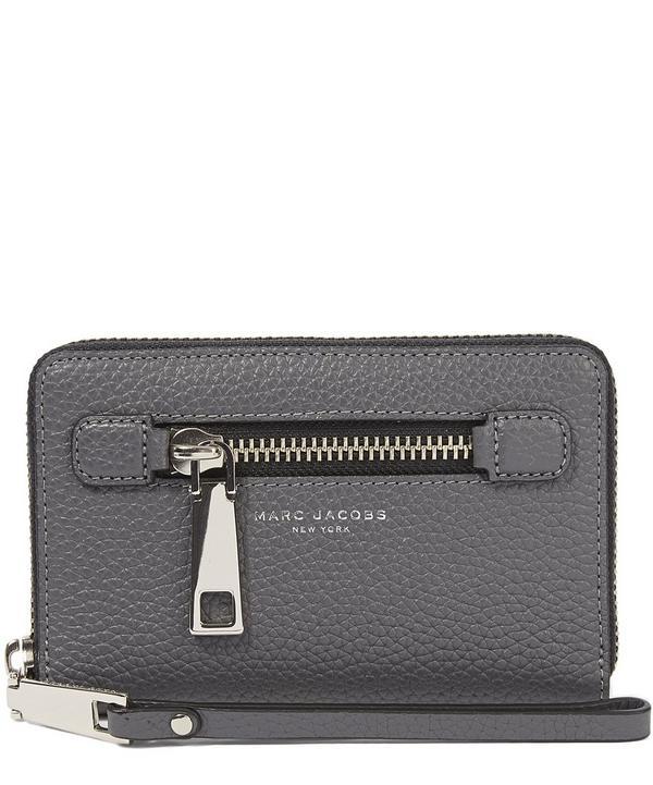 Gotham Leather Zip Phone Wristlet