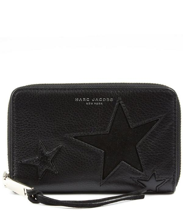 Leather Star Patchwork Phone Wallet