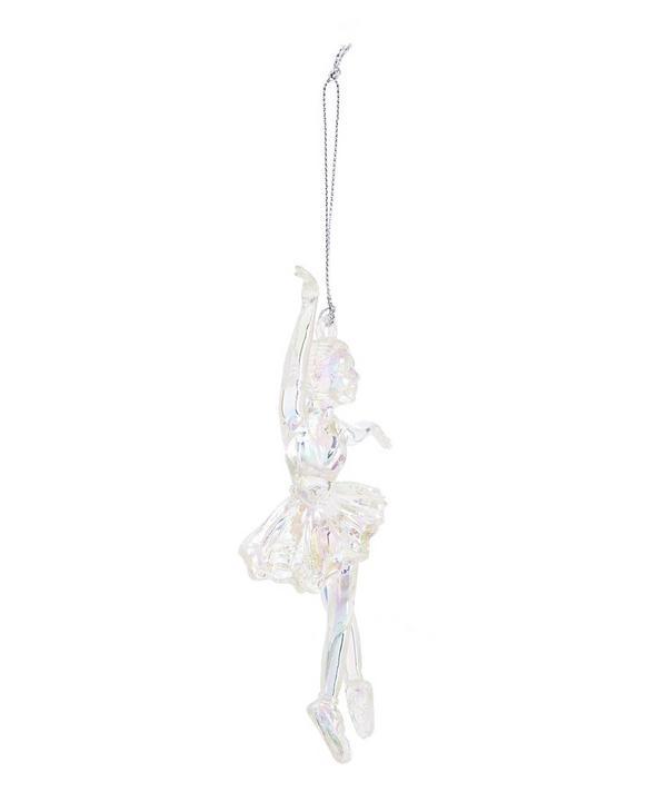 Iridescent Glitter Ballerina Bauble