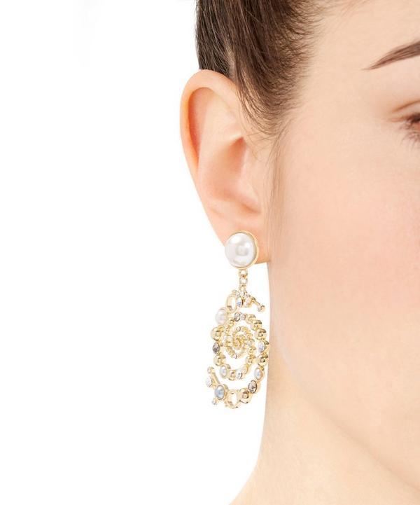 Infinite Swirl Drop Earrings