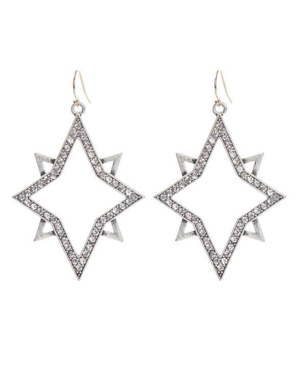 Nova Hollow Star Earrings