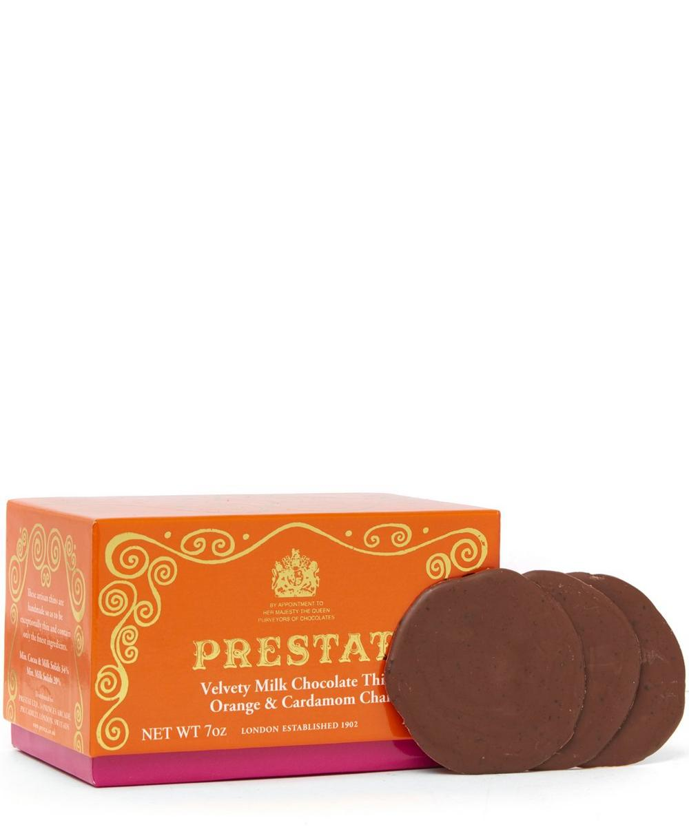 Orange and Cardamom Chai Milk Chocolate Thins 200g