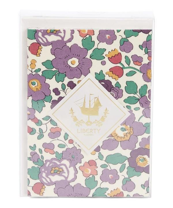 Set of Five Liberty Fabric Covered Notecards